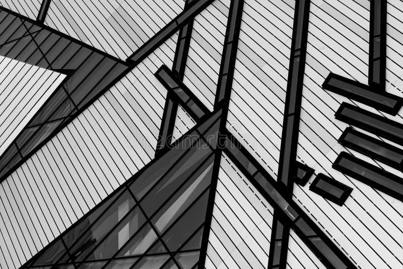 Черно-белые линии построения стоковые изображения rf