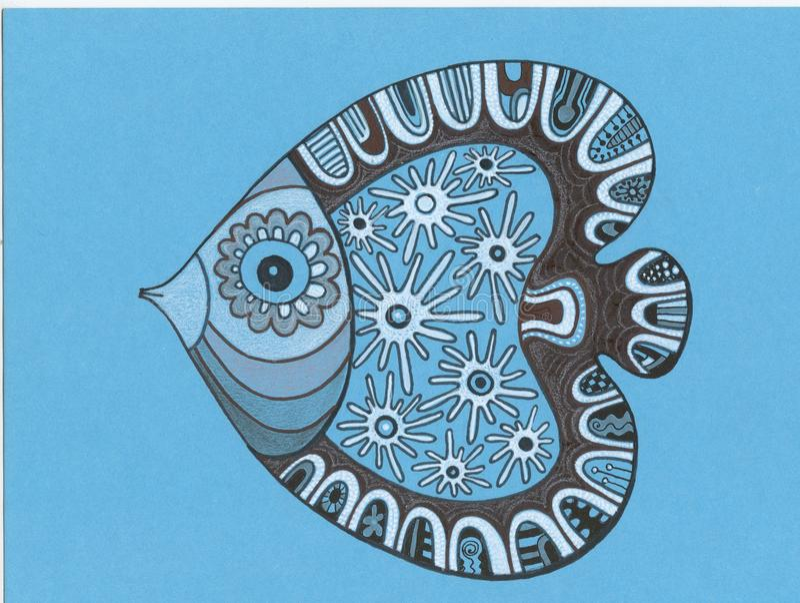 Черно-белые рыбы стоковые изображения rf