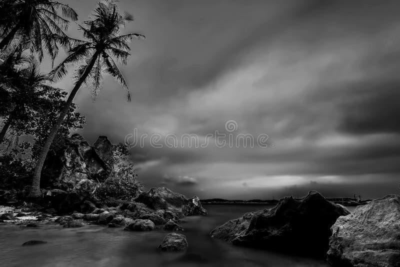 Черно-белые фото на островах Batam Bintan стоковое изображение