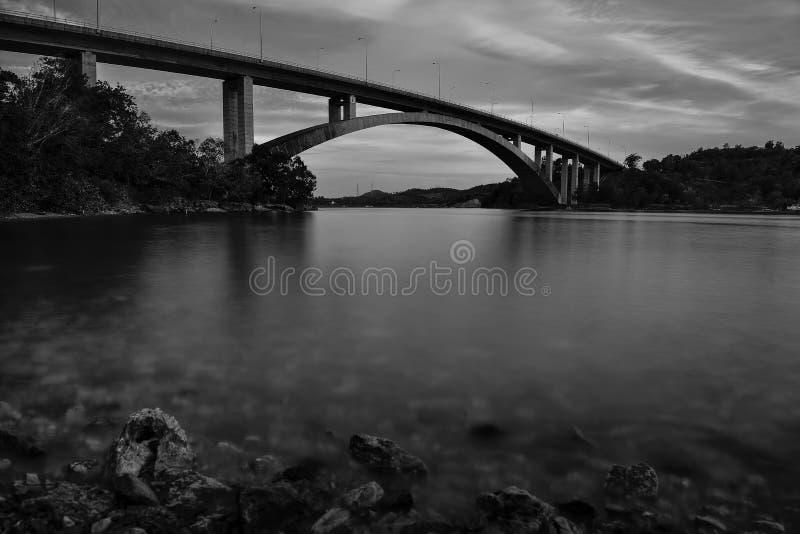 Черно-белые фото longexposure стоковые изображения
