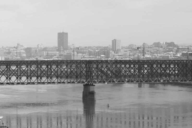 Черно-белый Белград стоковое фото rf