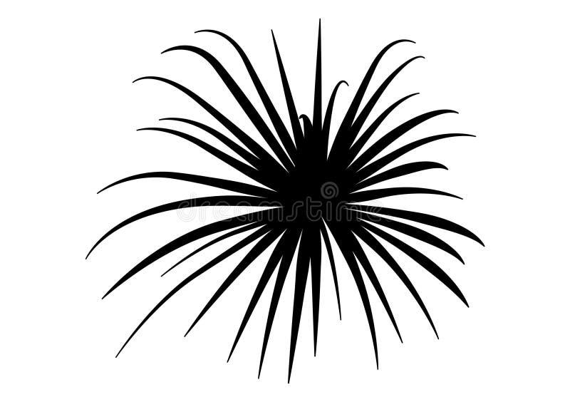 Черно-белый дизайн вектора проиллюстрированный для художественного произведения иллюстрация штока