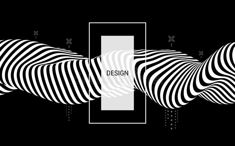 Черно-белый дизайн E r r иллюстрация вектора