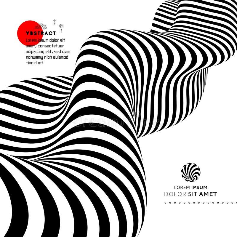 Черно-белый дизайн E r r иллюстрация штока