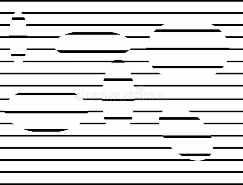 Черно-белый тип иллюзии выравнивая предпосылку в форме конспекта и повторения бесплатная иллюстрация