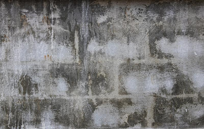 Черно-белый фон из кирпичного кирпича / монохромная абстрактная текстура Условие старое и изношенное Цвет стоковые изображения