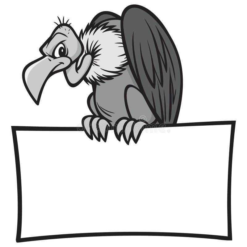 Черно-белый хищник с знаком бесплатная иллюстрация