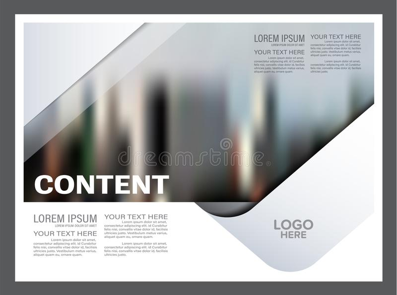 Черно-белый шаблон дизайна плана брошюры annuitant иллюстрация штока