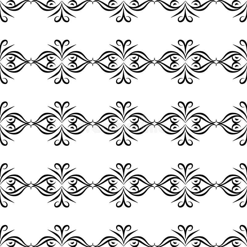 Черно-белая БЕЗШОВНАЯ ГЕОМЕТРИЧЕСКАЯ СКОРОГОВОРКА, ДИЗАЙН ПРЕДПОСЫЛКИ самомоднейшая стильная текстура Повторять и editable Смогит иллюстрация вектора
