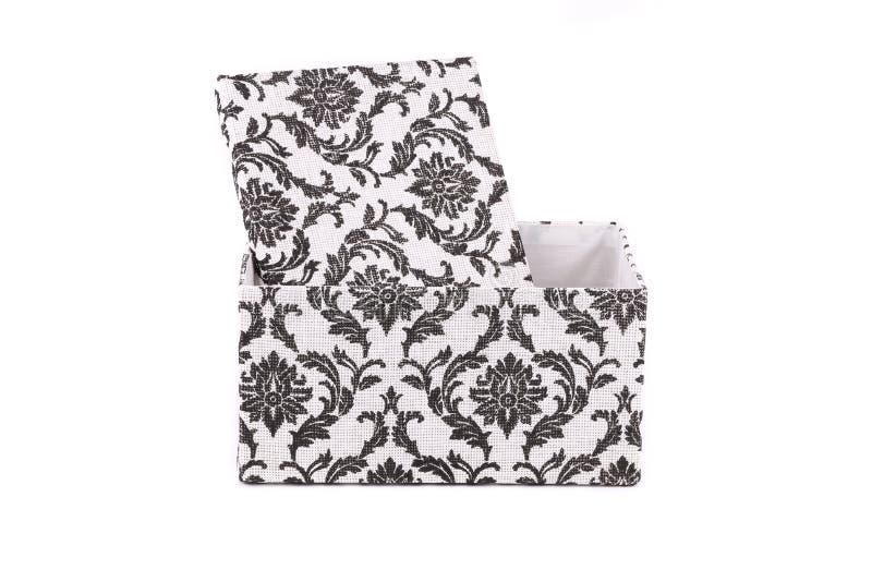 Черно-белая большая подарочная коробка стоковая фотография rf