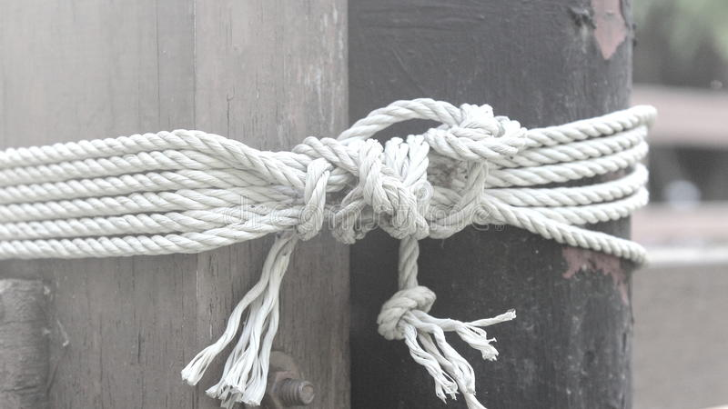 Черно-белая веревочка стоковые фото