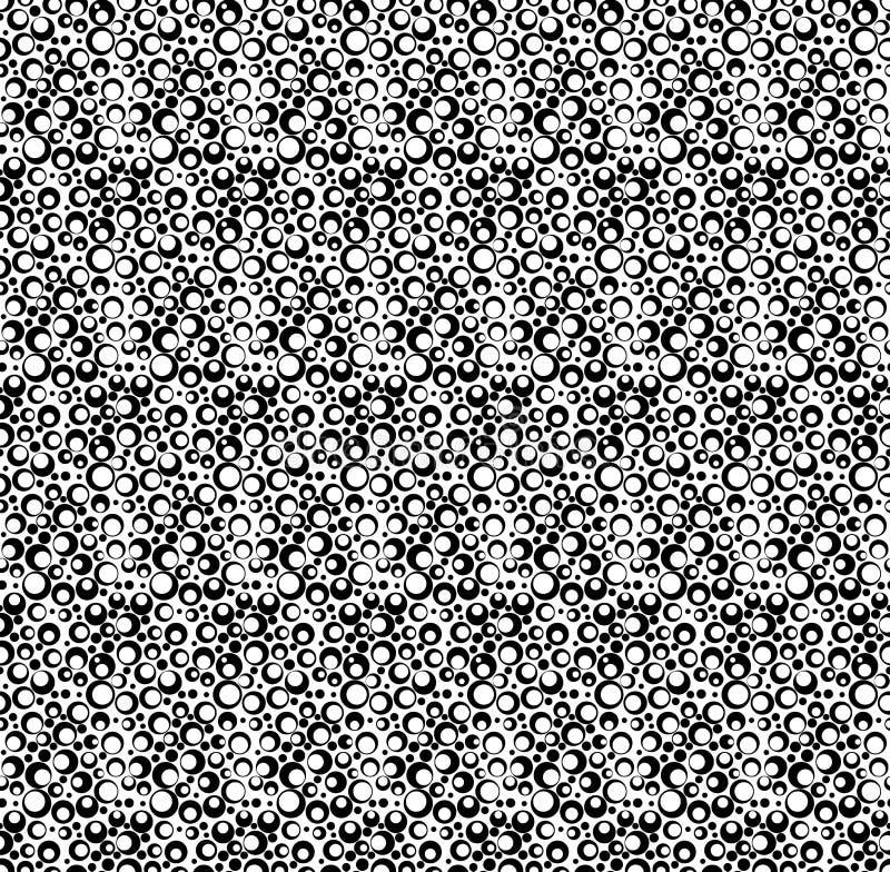 Черно-белая геометрическая безшовная картина с точкой, абстрактным ба бесплатная иллюстрация