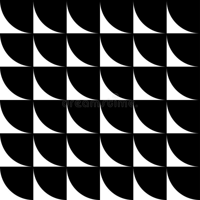 Черно-белая геометрическая безшовная картина бесплатная иллюстрация
