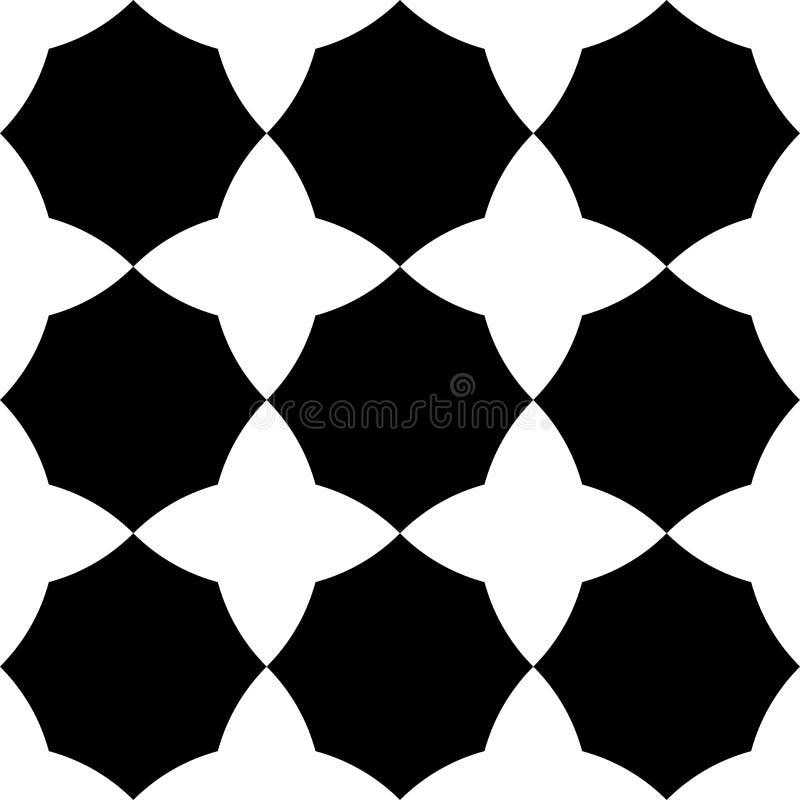 Черно-белая геометрическая безшовная картина иллюстрация вектора