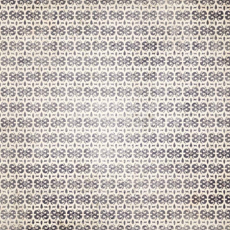 Черно-белая декоративная картина Fleur-de-lis стоковые фото