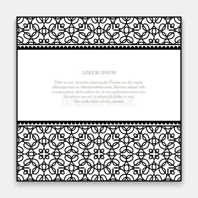 Черно-белая карточка границы бесплатная иллюстрация