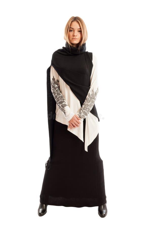 Черно-белая концепция моды стоковая фотография rf