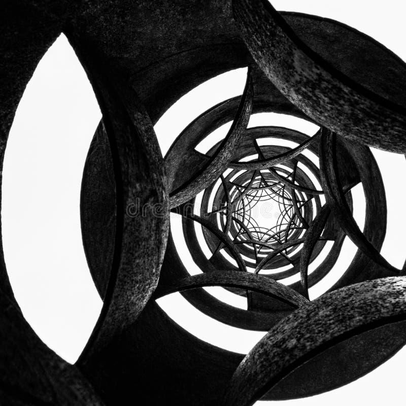 Черно-белая круговая предпосылка стоковое изображение rf