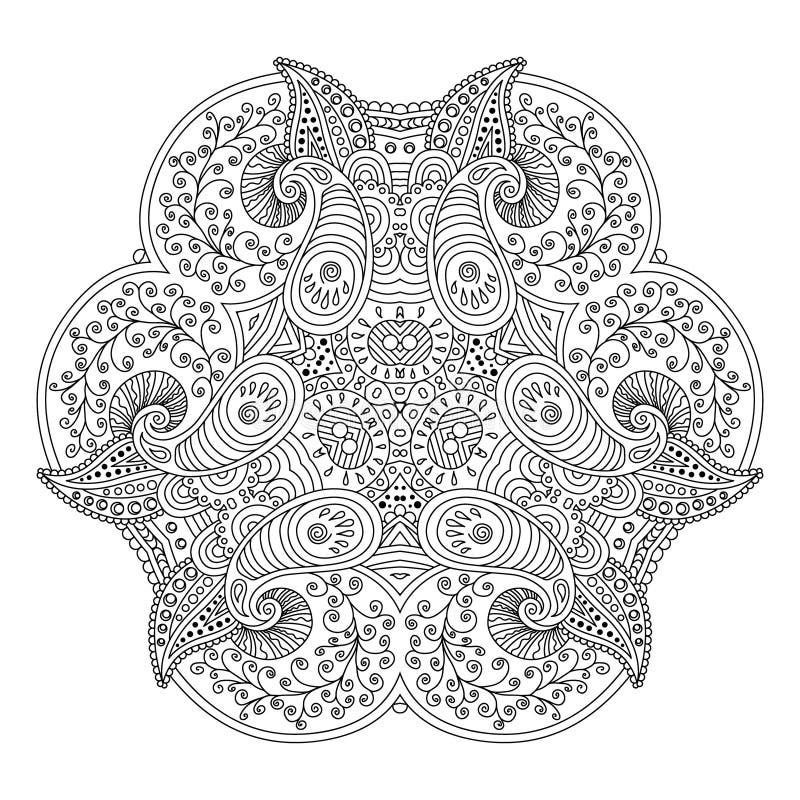 Черно-белая мандала стоковые изображения