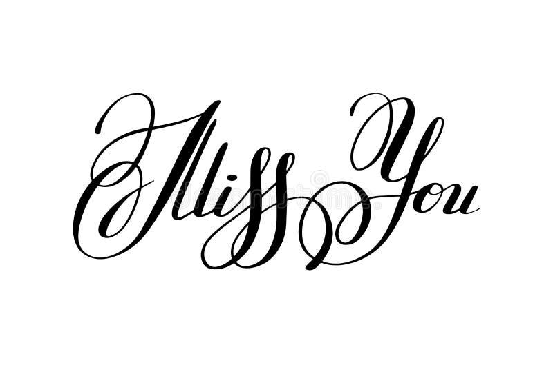 Черно-белая несоосность вы литерность руки надписи, каллиграфия бесплатная иллюстрация