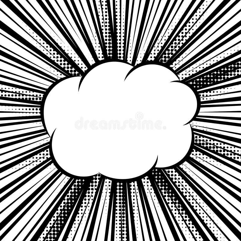 Черно-белая предпосылка комика иллюстрация вектора