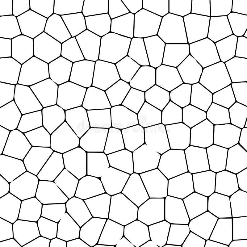 Черно-белая текстура треснутой земли иллюстрация штока