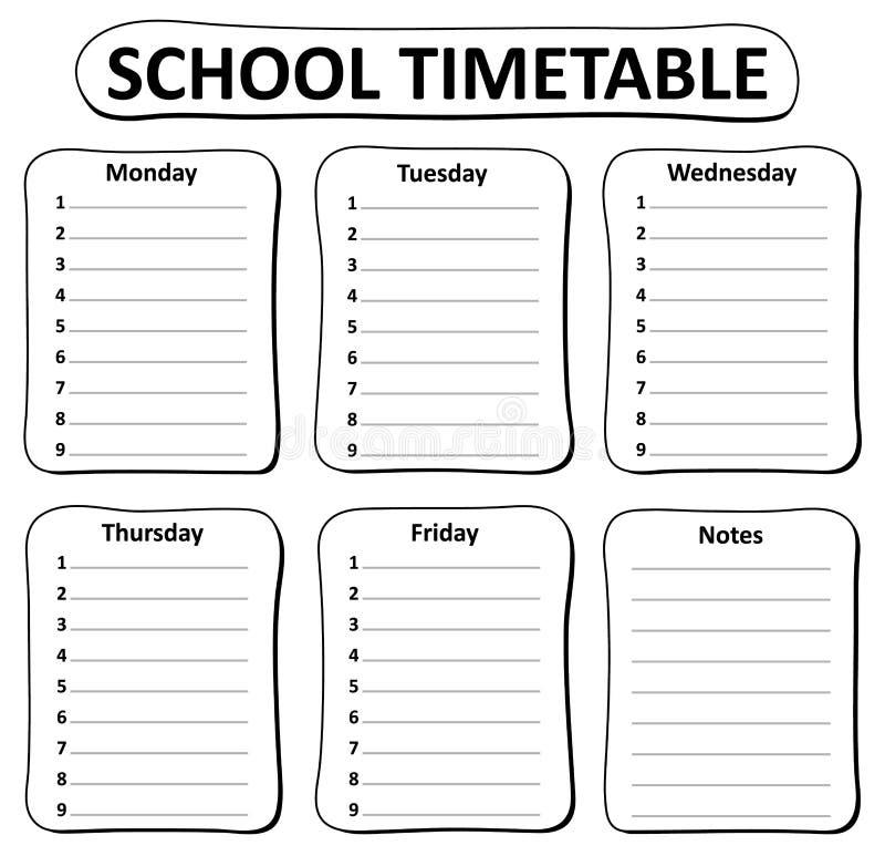 расписание уроков черно-белый шаблон без картинок старых жестяных банок