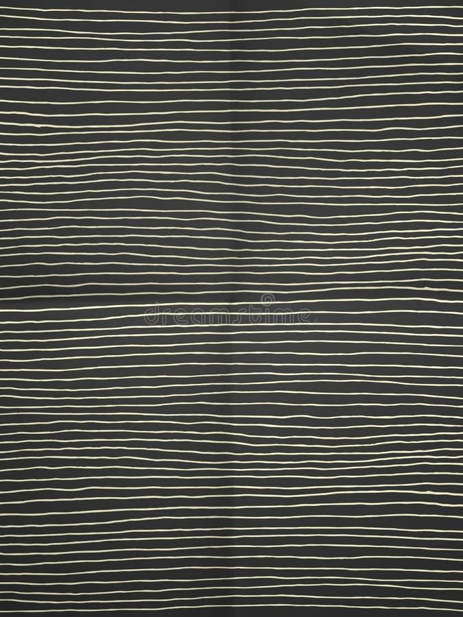 Черно-белая упаковочная бумага с горизонтальными прямыми иллюстрация штока