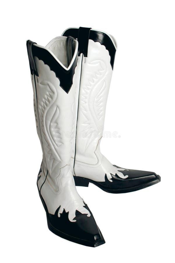 Черно-белые ботинки стоковое фото