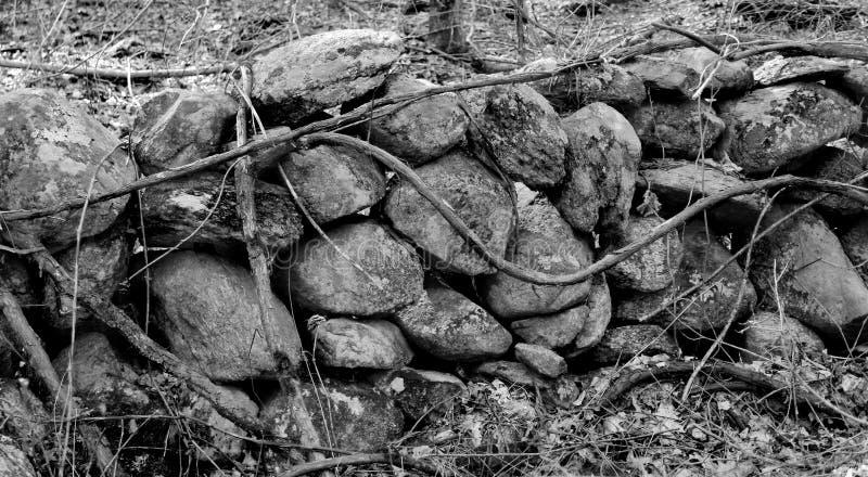 Черно-белые утесы стоковая фотография