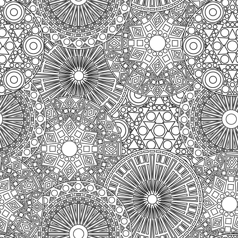 Черно-белый безшовный кружевной цветочный узор бесплатная иллюстрация