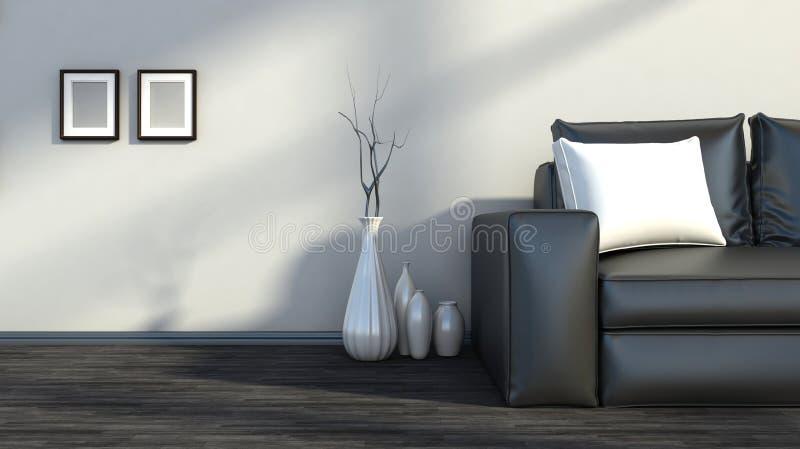Черно-белый внутренний цвет иллюстрация вектора