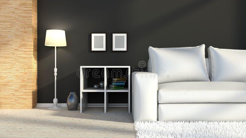 Черно-белый внутренний цвет иллюстрация штока