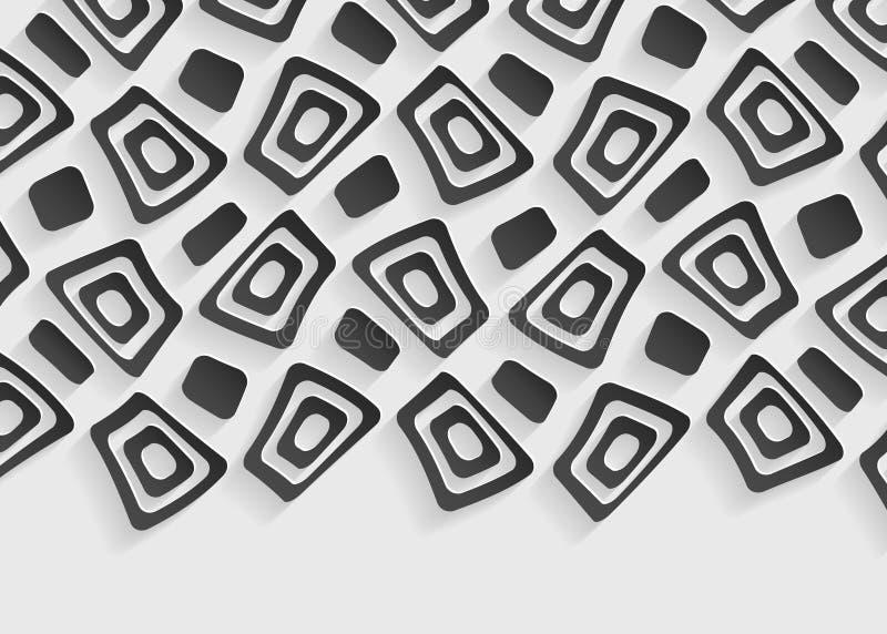 Черно-белый геометрический шаблон предпосылки конспекта картины иллюстрация вектора