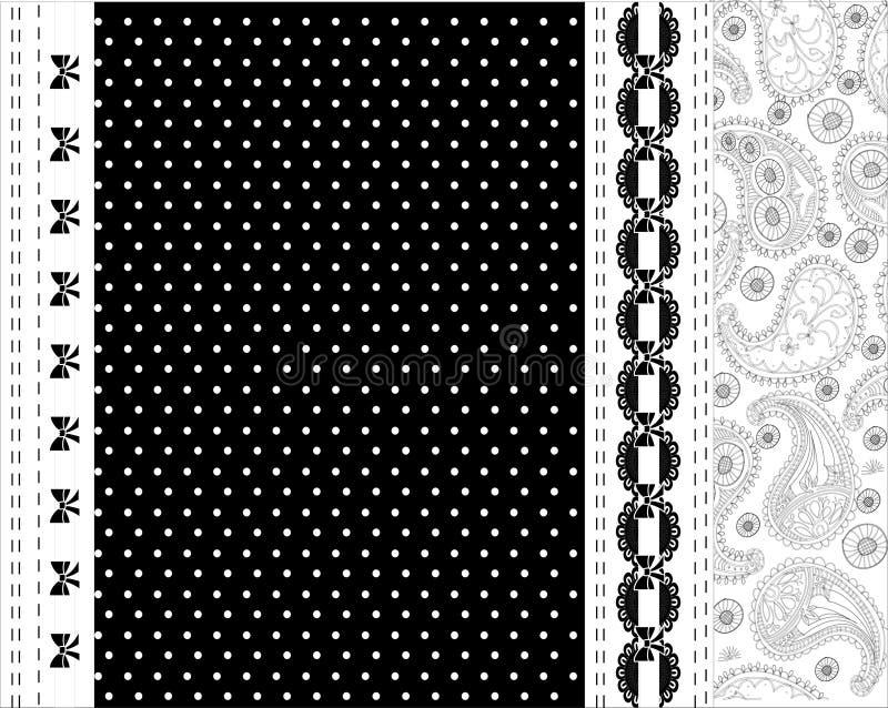 Download Черно-белый дизайн вектора шнурка Иллюстрация вектора - иллюстрации насчитывающей флористическо, свирль: 41650849