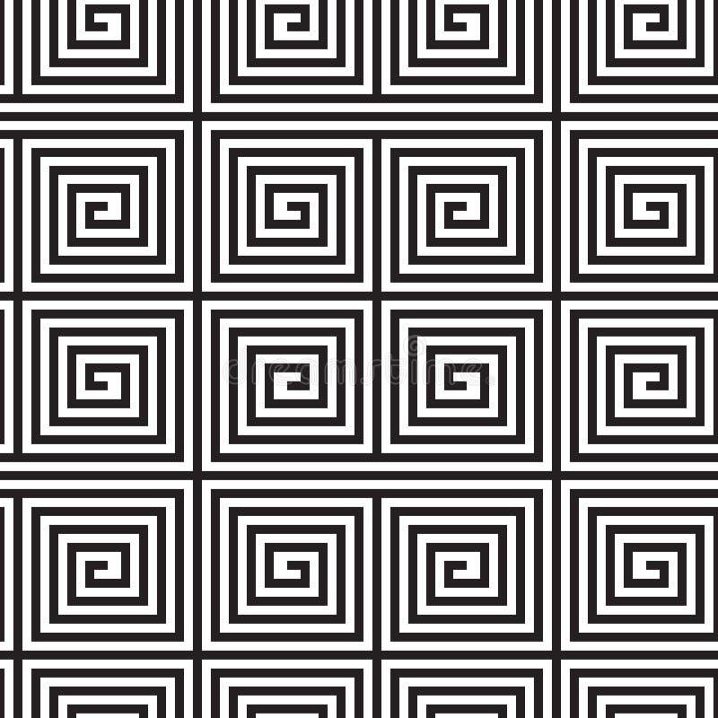 Черно-белый дизайн Op искусства бесплатная иллюстрация