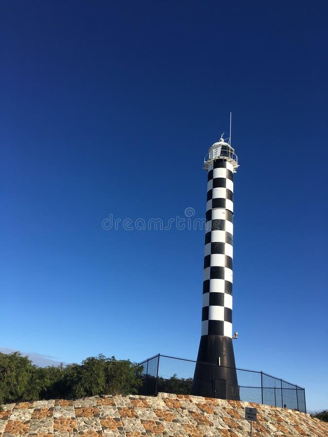 Черно-белый маяк проверки в Bunbury стоковые изображения rf