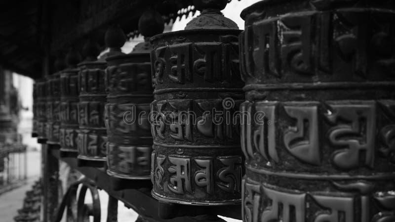 Черно-белый Непал (серии) стоковое изображение rf