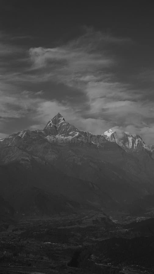 Черно-белый Непал (серии) стоковая фотография