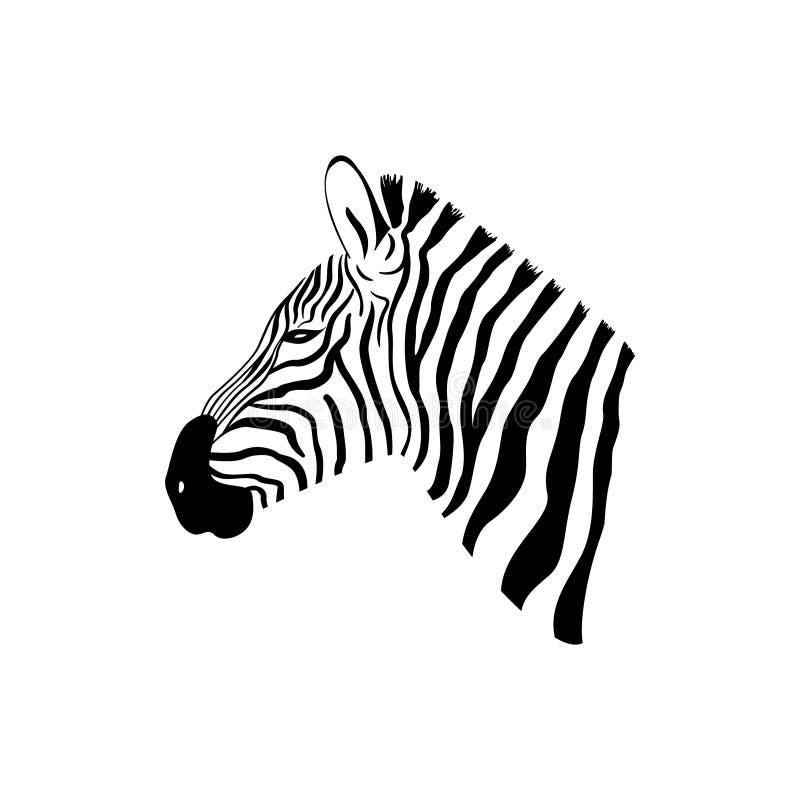 Черно-белый портрет зебры с взглядом со стороны бесплатная иллюстрация
