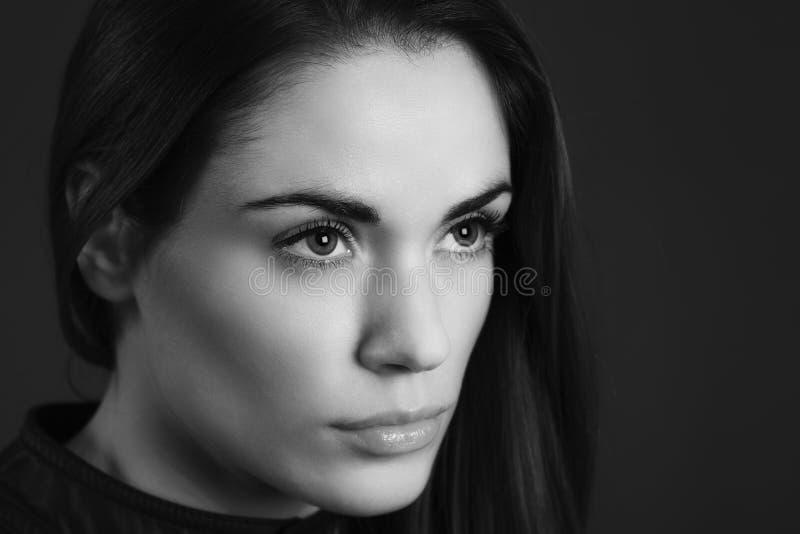 Черно-белый портрет стоковые фото