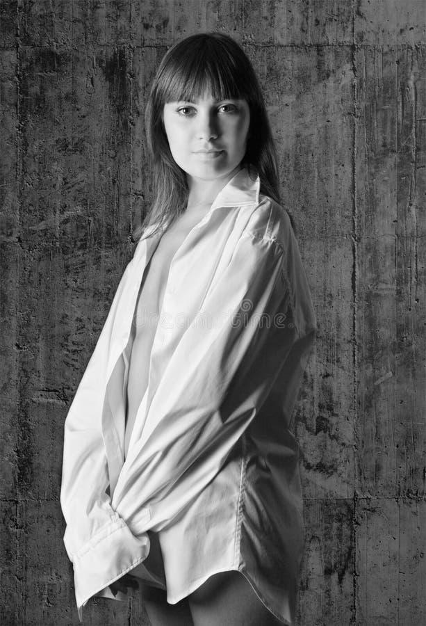 Черно-белый портрет стоковое изображение