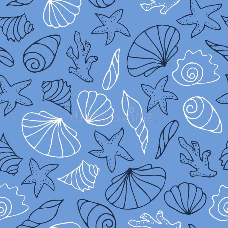 Черно-белый план на голубой предпосылке иллюстрация штока