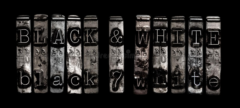 Черно-белый стоковая фотография rf