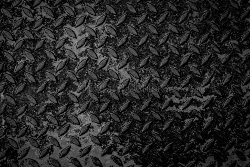Черные безшовные текстура и предпосылка металла стоковые изображения