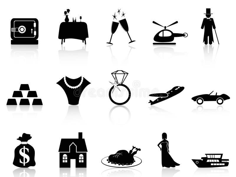 Богатство и икона роскоши иллюстрация вектора