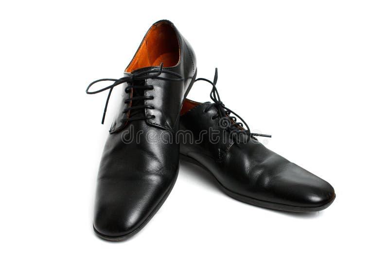 черные ботинки стоковые фотографии rf