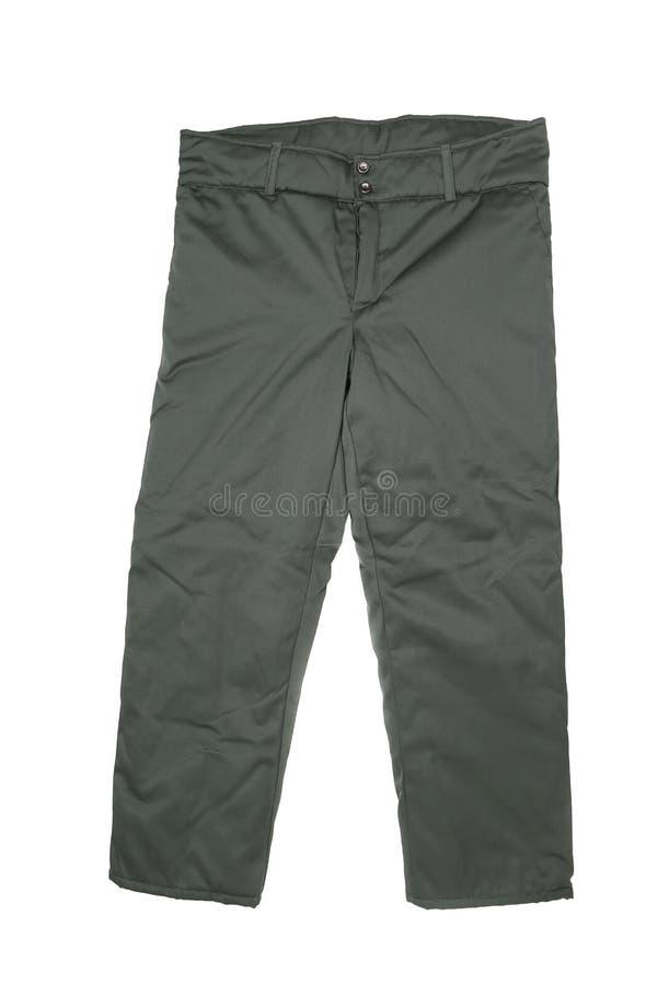 Черные брюки. Вид спереди стоковые фотографии rf