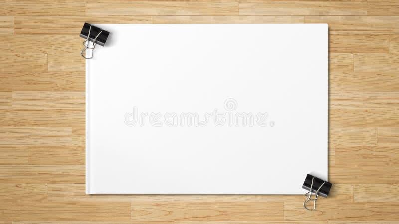 Черные бумажные зажимы изолированные на белой бумаге стоковые фотографии rf