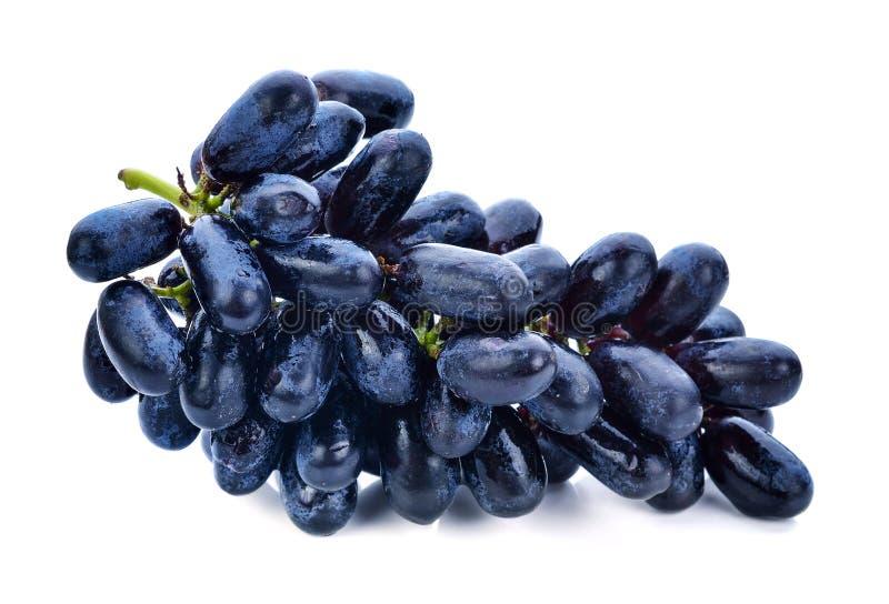 Черные виноградины изолированные на белизне стоковая фотография